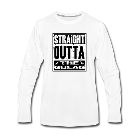 STRAIGHT OUTTA THE GULAG LONG SLEEVE - white