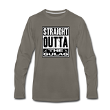 STRAIGHT OUTTA THE GULAG LONG SLEEVE - asphalt gray