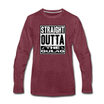 STRAIGHT OUTTA THE GULAG LONG SLEEVE - heather burgundy