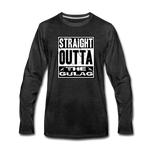 STRAIGHT OUTTA THE GULAG LONG SLEEVE - charcoal gray