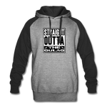 STRAIGHT OUTTA THE GULAG COLORBLOCK HOODIE - heather gray/black