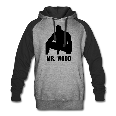 MR WOOD COLORBLOCK HOODIE - heather gray/black