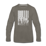 GUN FLAG LONG SLEEVE - asphalt gray