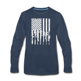 GUN FLAG LONG SLEEVE - navy