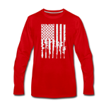 GUN FLAG LONG SLEEVE - red