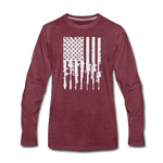 GUN FLAG LONG SLEEVE - heather burgundy