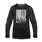 GUN FLAG LONG SLEEVE - charcoal gray