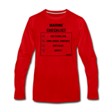 MARINE CHECKLIST LONG SLEEVE - red