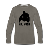 MR WOOD LONG SLEEVE - asphalt gray