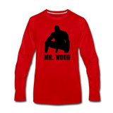 MR WOOD LONG SLEEVE - red