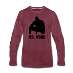 MR WOOD LONG SLEEVE - heather burgundy