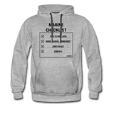MARINE CHECKLIST HOODIE - heather gray