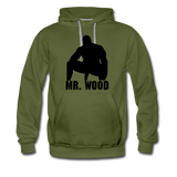 MR WOOD HOODIE - olive green