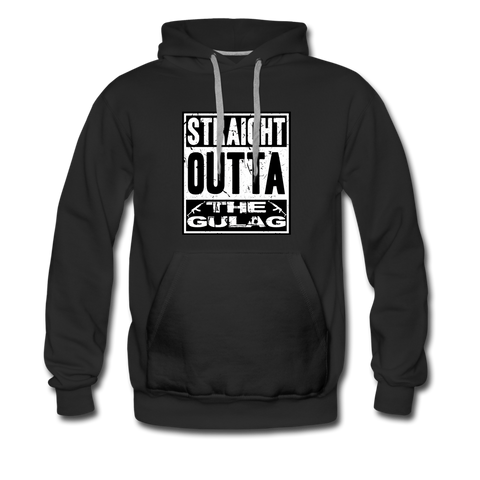 STRAIGHT OUTTA THE GULAG HOODIE - black