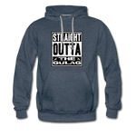 STRAIGHT OUTTA THE GULAG HOODIE - heather denim