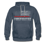 FIREFIGHTER HOODIE - heather denim