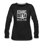 STRAIGHT OUTTA THE GULAG WOMENS LONG SLEEVE - black
