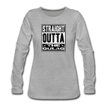 STRAIGHT OUTTA THE GULAG WOMENS LONG SLEEVE - heather gray
