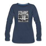 STRAIGHT OUTTA THE GULAG WOMENS LONG SLEEVE - navy