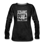 STRAIGHT OUTTA THE GULAG WOMENS LONG SLEEVE - charcoal gray