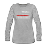 FIREFIGHTER WOMENS LONG SLEEVE - heather gray