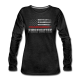 FIREFIGHTER WOMENS LONG SLEEVE - charcoal gray