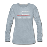 FIREFIGHTER WOMENS LONG SLEEVE - heather ice blue