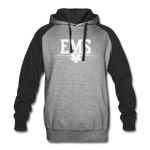 EMS COLORBLOCK HOODIE - heather gray/black
