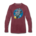 DEATH FROM ABOVE LONG SLEEVE - heather burgundy