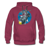 DEATH FROM ABOVE HOODIE - burgundy