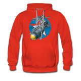DEATH FROM ABOVE HOODIE - red