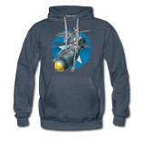 DEATH FROM ABOVE HOODIE - heather denim