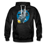 DEATH FROM ABOVE HOODIE - charcoal gray