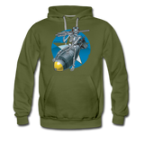 DEATH FROM ABOVE HOODIE - olive green