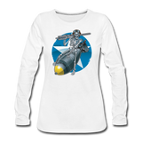 DEATH FROM ABOVE WOMENS LONG SLEEVE - white
