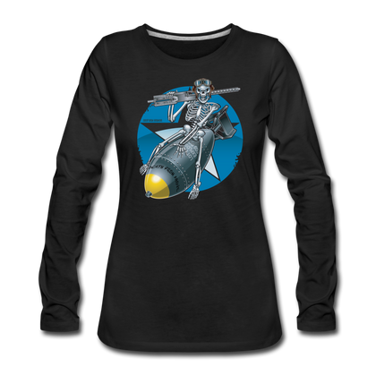 DEATH FROM ABOVE WOMENS LONG SLEEVE - black