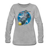 DEATH FROM ABOVE WOMENS LONG SLEEVE - heather gray