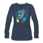 DEATH FROM ABOVE WOMENS LONG SLEEVE - navy