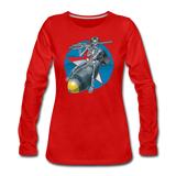 DEATH FROM ABOVE WOMENS LONG SLEEVE - red