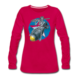 DEATH FROM ABOVE WOMENS LONG SLEEVE - dark pink