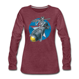 DEATH FROM ABOVE WOMENS LONG SLEEVE - heather burgundy
