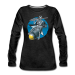 DEATH FROM ABOVE WOMENS LONG SLEEVE - charcoal gray