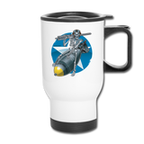 DEATH FROM ABOVE TRAVEL MUG - white
