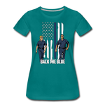 BACK THE BLUE WOMENS - teal