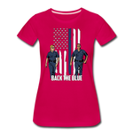BACK THE BLUE WOMENS - dark pink