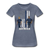 BACK THE BLUE WOMENS - heather blue