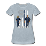 BACK THE BLUE WOMENS - heather ice blue