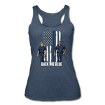 BACK THE BLUE TANK - heather navy
