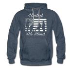 UNITED WE STAND HOODIE - heather denim