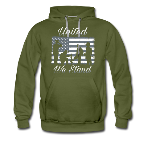 UNITED WE STAND HOODIE - olive green